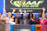 IAAF President Lamine Diack Counting down to the final bell at NASDAQ (NASDAQ)