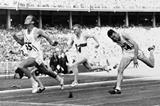 Bobby Morrow in action at the 1956 Olympic Games (AFP / Getty Images)