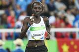 Anjelina Nadai Lohalith in action at the Rio 2016 Olympic Games (AFP / Getty Images)