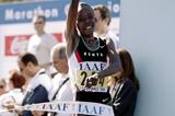 Tegla Loroupe wins her third consecutive world half marathon title in Palermo (Getty Images - Allsport)