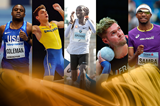 2018 male World Athlete of the Year finalists (Getty Images)