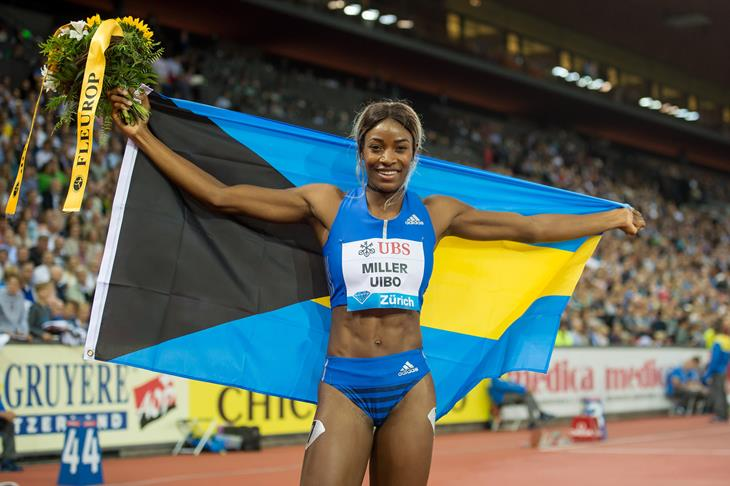 Shaunae Miller-Uibo celebrates her Diamond League win in Zurich (Getty Images)