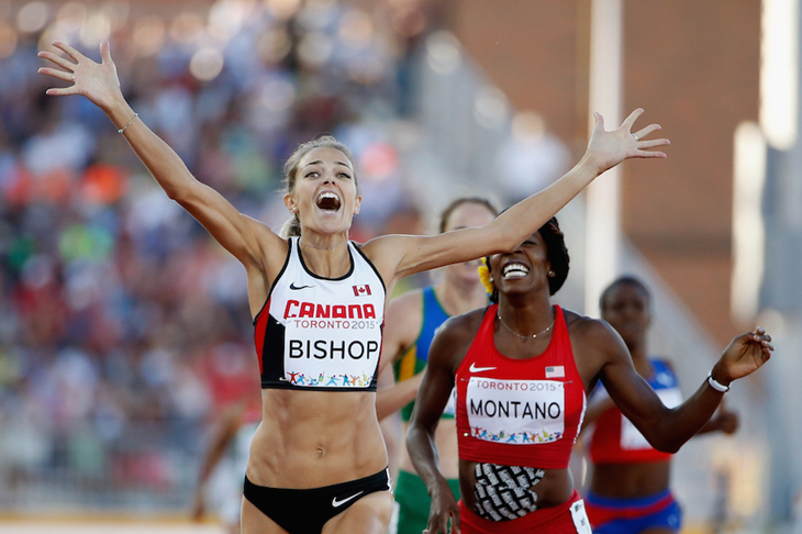 Melissa Bishop wins the PanAm 800m title ()