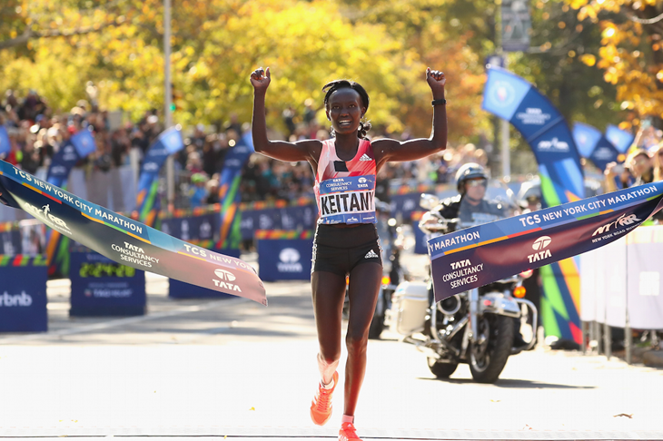 Mary Keitany winning the 2016 TCS NYC Marathon (Getty Images)