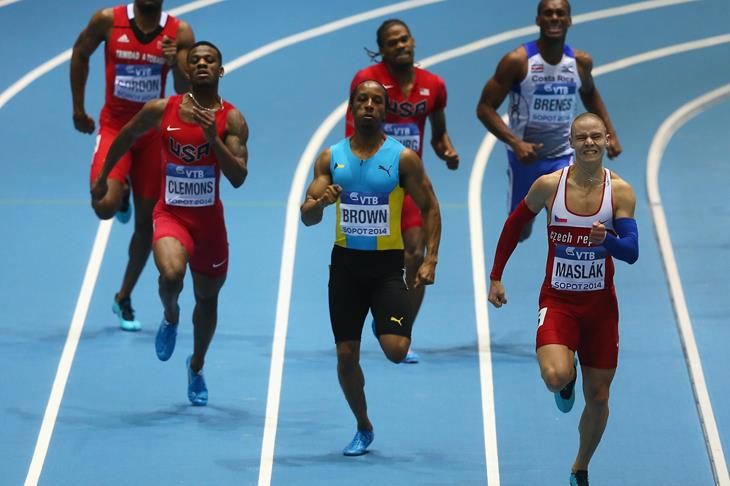 Chris Brown silver medalist in the 400m final at Sopot 2014 ()