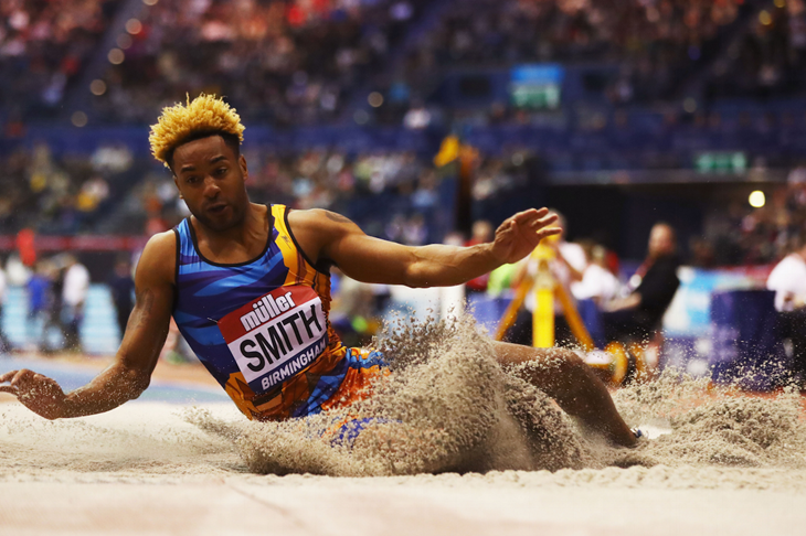 Tyrone Smith competes at the Birmingham Indoor GP (Getty Images)