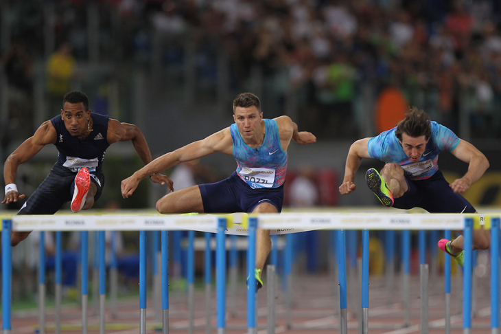 Andrew Pozzi competes in the 110m hurdles at the Rome Diamond League (Getty Images)