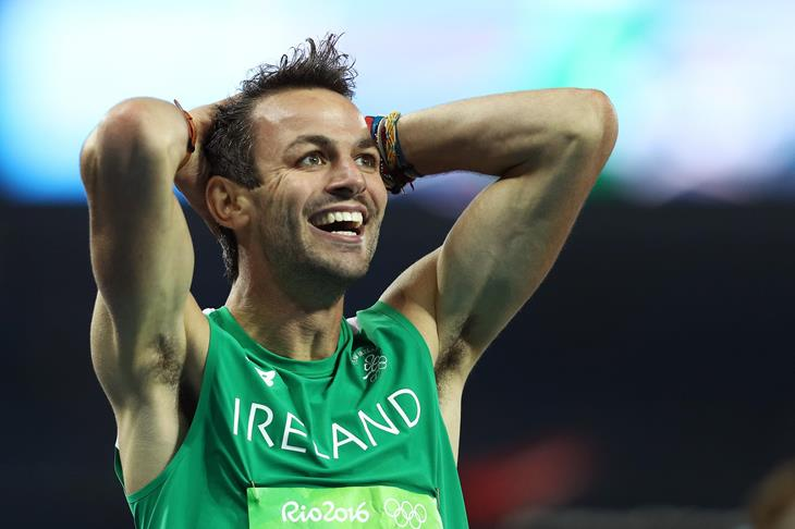 Thomas Barr after winning the semi-final of the men's 400m hurdles at the 2016 Rio Olympic Games (Getty)