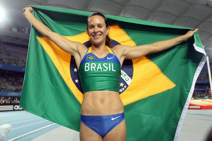Fabiana Murer Brazil Flag ()