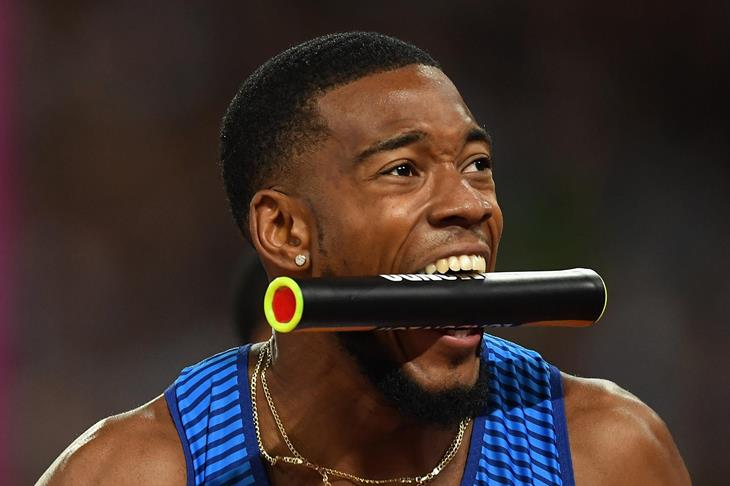 Nethaneel Mitchell-Blake at the 2017 World Championships (Getty Images)