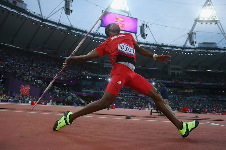 Keshorn Walcott competes at the London 2012 Olympics ()