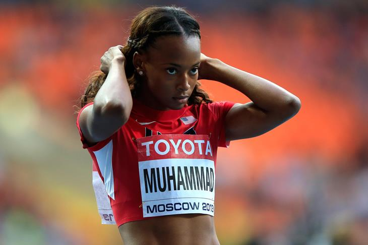 Dalilah Muhammad 400m hurdles Moscow 2013 World Championships ()