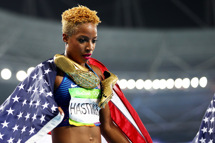 Natasha Hastings at the 2016 Rio Olympics (Getty Images)