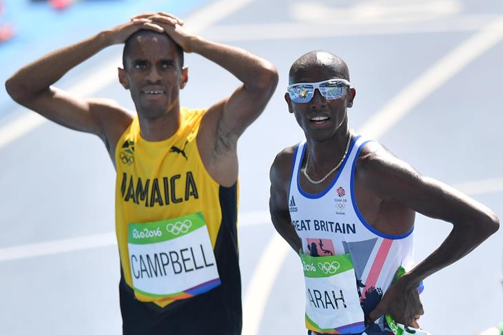 Kemoy Campbell and Mo Farah after the 5000m at the Rio Olympics (Getty Images / AFP )