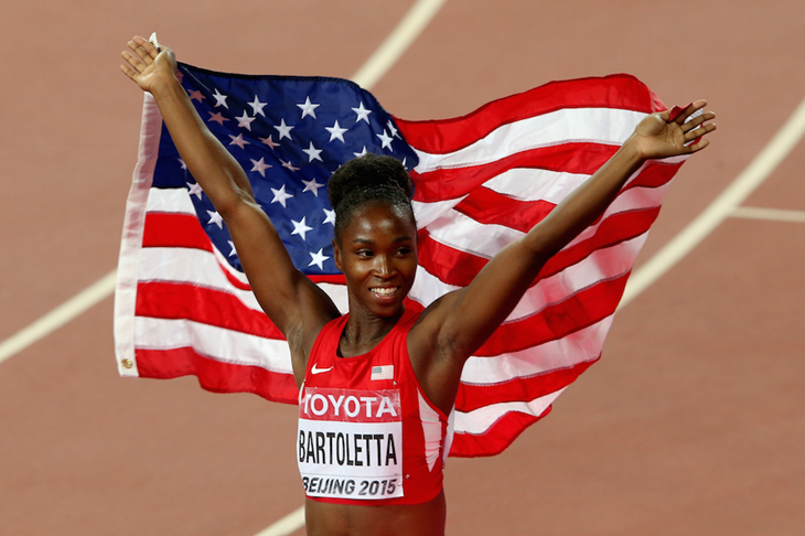 Tianna Bartoletta Beijing Celebrations SPIKES ()