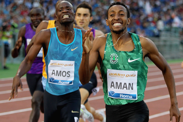 Mohammed Aman Rome Diamond League ()