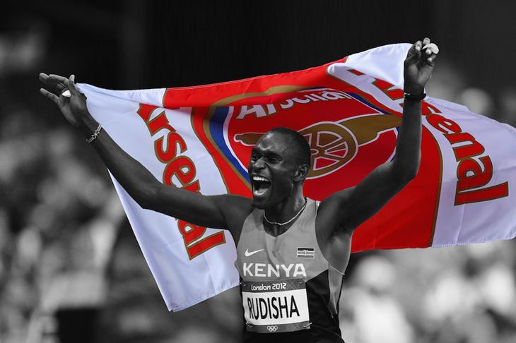 David Rudisha Arsenal ()