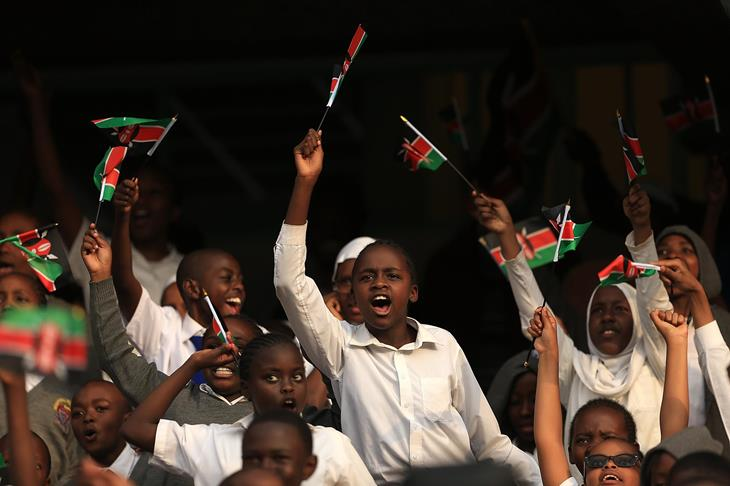 Kenyan fans at the IAAF World U18 Championships Nairobi 2017 (Getty)