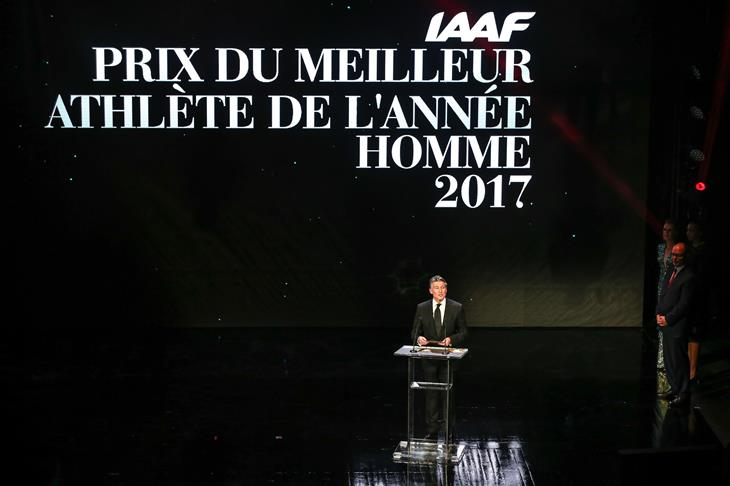 Sebastian Coe at the IAAF Athletics Awards 2017 (Philippe Fitte)