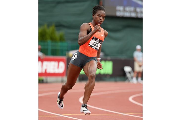 Jeneba Tarmoh competes at the US Outdoor Championships ()