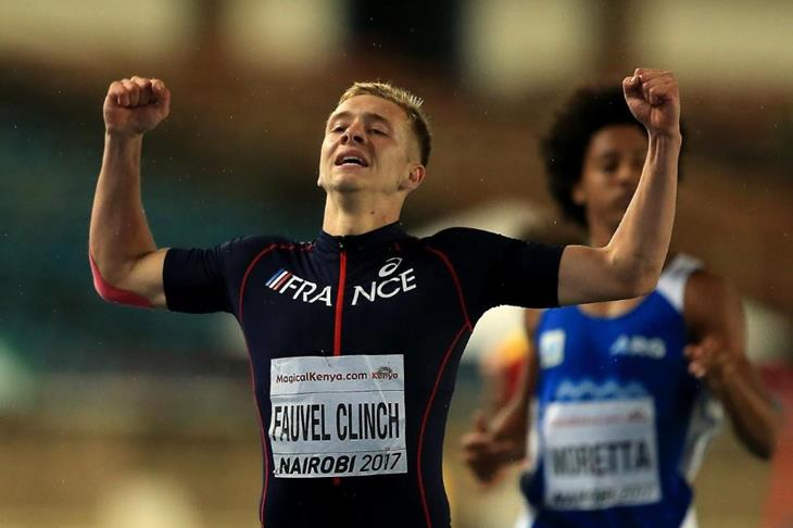 Steven Fauvel Clinch in the decathlon 400m at the IAAF World U18 Championships Nairobi 2017 (Getty Images)