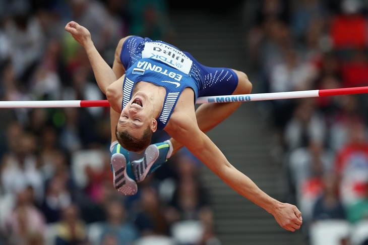Maicel Uibo competes in the decathlon high jump (Getty Images)