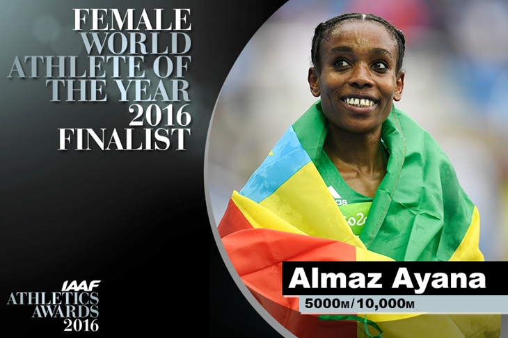 Female World Athlete of the Year Finalist Almaz Ayana ()
