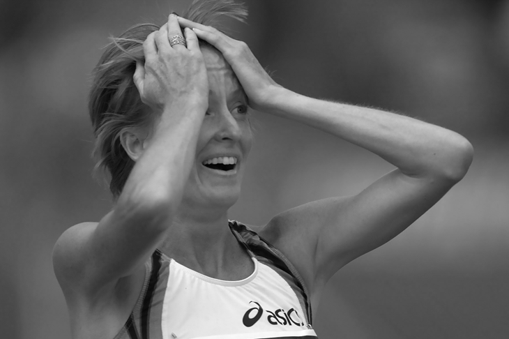 Deena Kastor at the 2001 US Outdoor Championships (Getty Images)