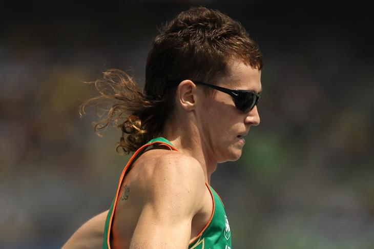 Ciarán Ó Lionáird in action in the heats in Daegu ()