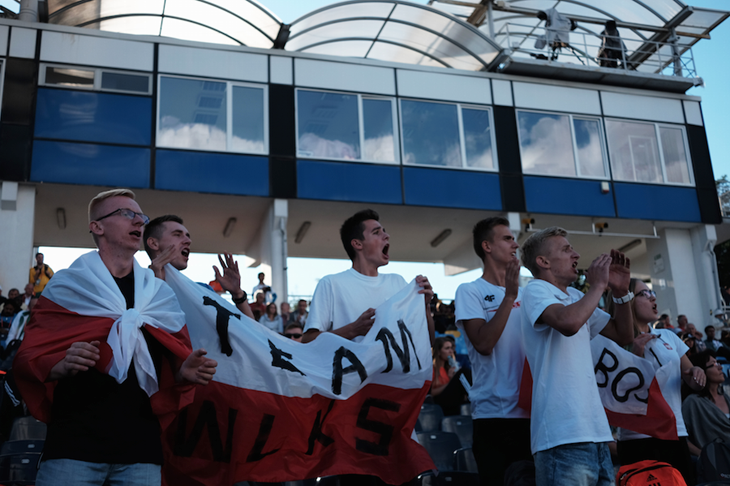 Bydgoszcz Supporters with Flag (Thomas Byrne)