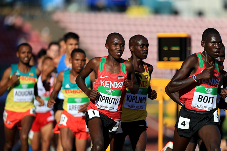 Rhonex Kipruto and Solomon Boit in Tampere (Getty Images)