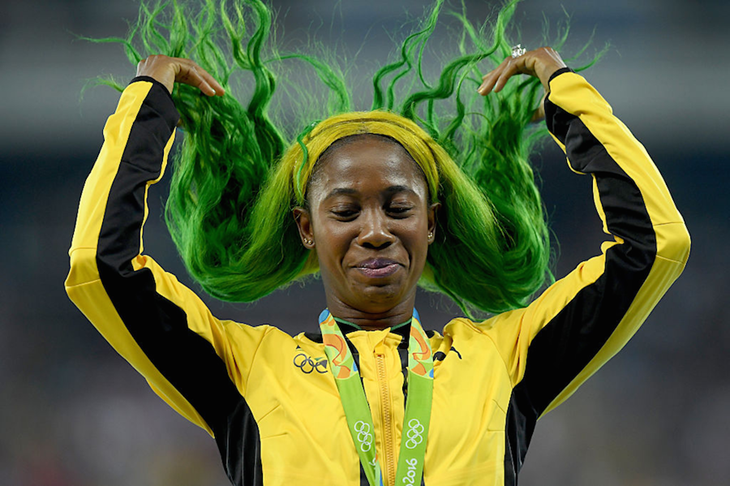 Shelly-Ann Fraser-Pryce Hair ()