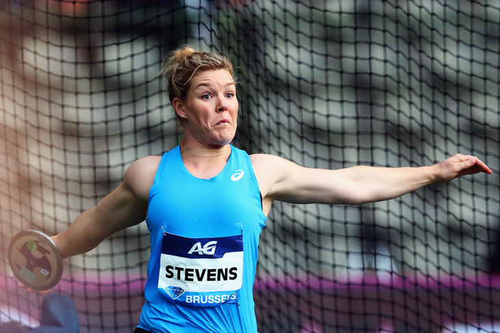 Dani Stevens competes at the Brussels Diamond League 2017 (Getty Images )