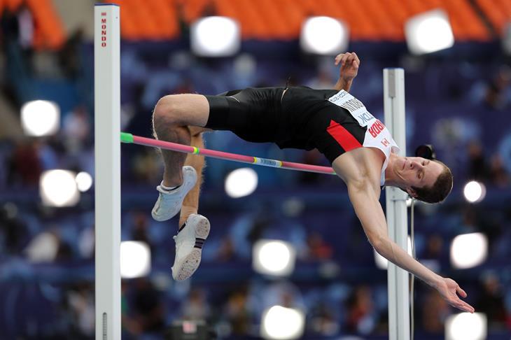 Derek Drouin Canadian high jumper ()