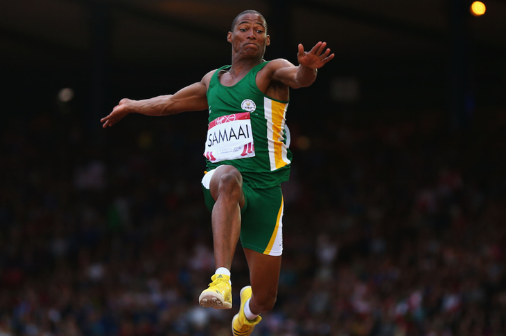 Ruswahl Samaai at the 2014 Commonwealth Games ()