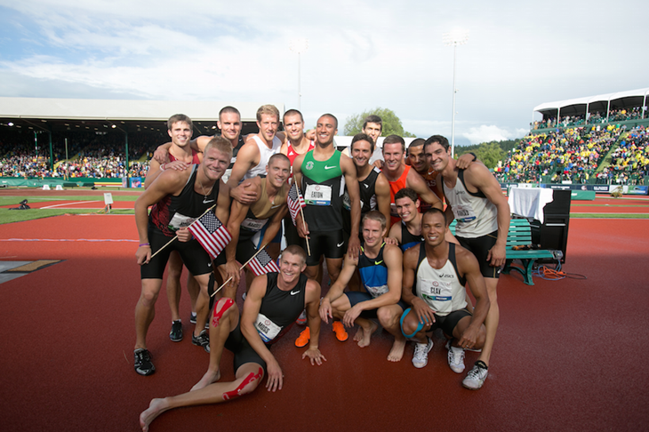 Decathletes at the 2012 US Olympic Trials ()