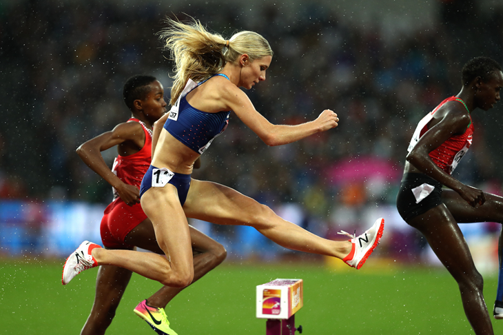 Emma Coburn competes in the steeplechase at IAAF World Championships (Getty Images)