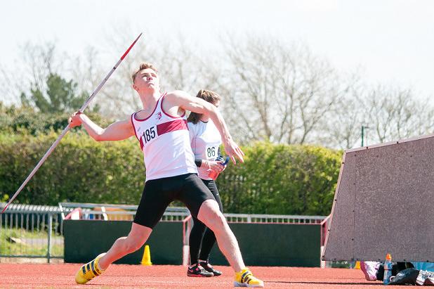 Sam Talbot during the English Schools Championships ()