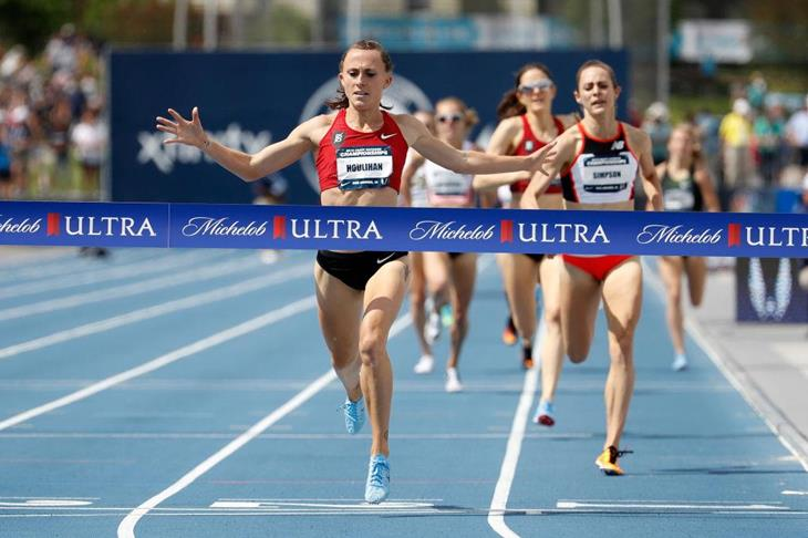 Shelby Houlihan winning the 1500m US title (Getty Images)