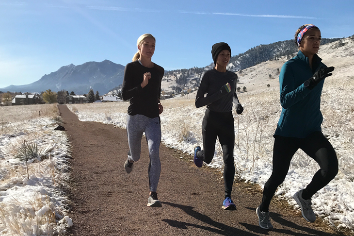 Coburn, Praught-Leer and Edwards training in Colorado (Kaela Edwards)