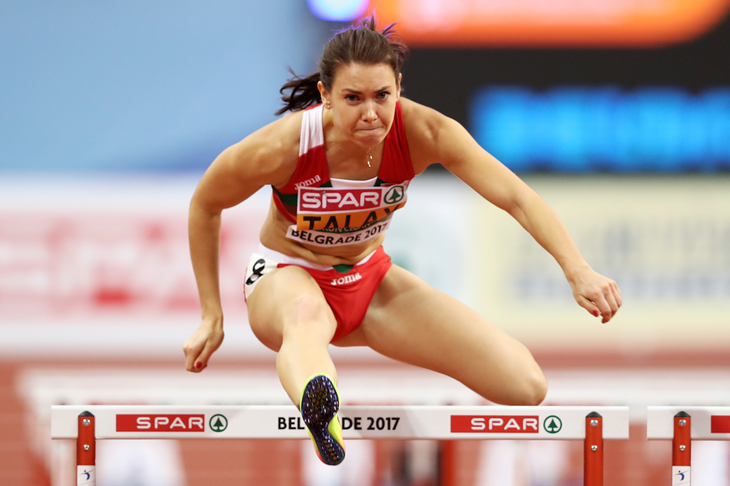 Alina Talay at the European Indoor Championships in Belgrade (Getty Images)