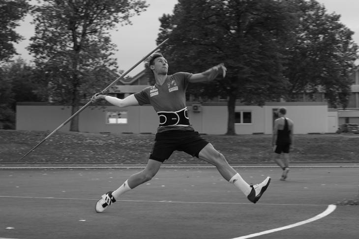 Niklas Kaul at his training base in Mainz (Michelle Sammet)