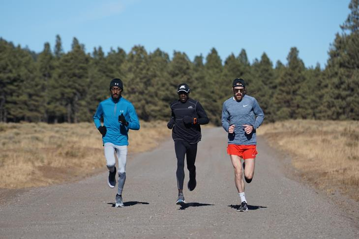 Edward Cheserek training in Flagstaff (Stephen Haas)