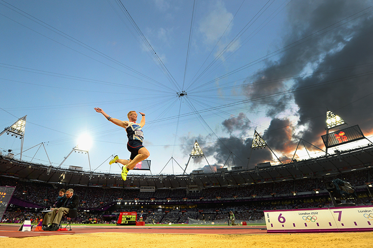 Greg Rutherford in the long jump at the London 2012 Olympic Games (Getty Images)