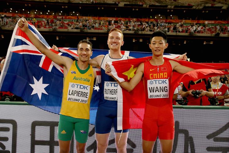 Beijing Long Jump Men Medallists ()