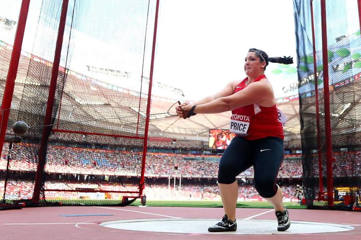 Deanna Price competes in the 2015 Beijing World Championships (Getty Images)