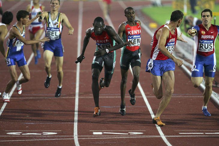 Rudisha competes in the 4x400m at the 2006 World Junior Championships ()