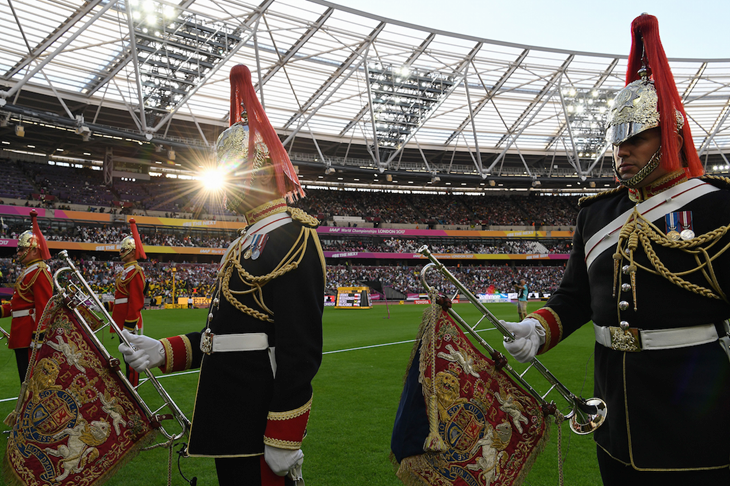 Brass Band introduced field events (Getty Images / AFP)