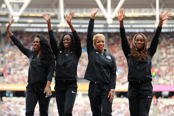 USA women 4x4 receive their gold medal from 2013 (Getty Images)