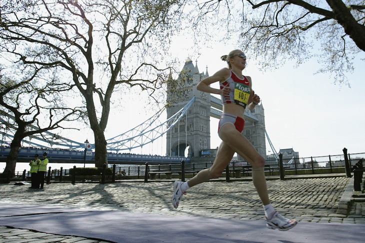 Paula Radcliffe London Marathon 2003 ()